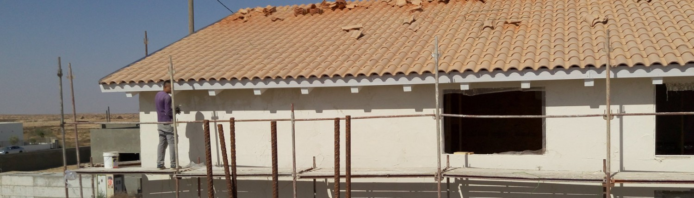 בית מעץ עם גג רעפים