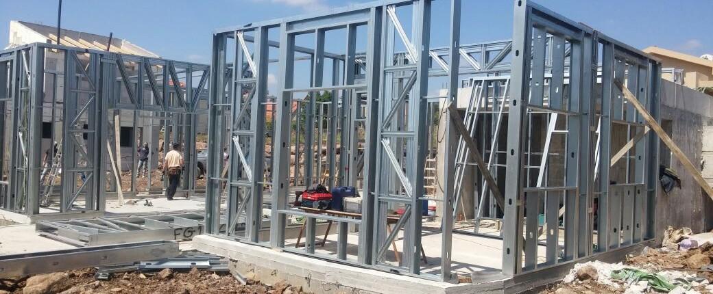 בנייה בפלדה. תמונת שלד