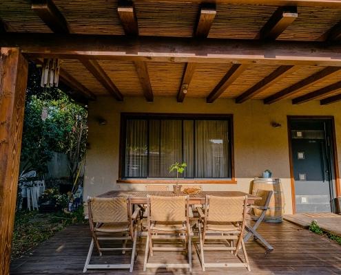 בית פדן - בניית מרפסת מעץ
