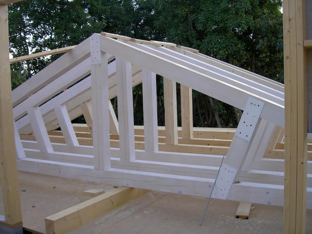 תהליכי בנייה של בתים מעץ